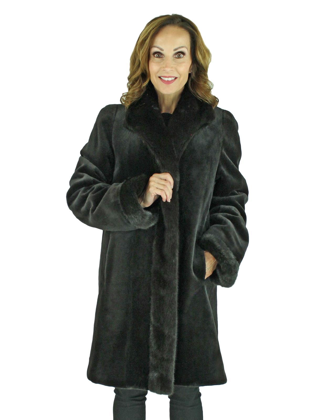 Woman's Brown Sheared Mink Fur Stroller