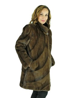 Woman's Scan Brown Mink Fur Stroller