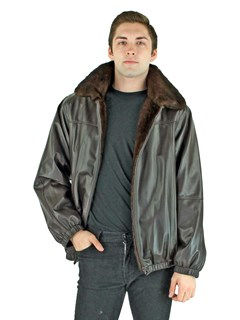 Man's Mahogany Mink Fur Jacket