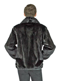 Man's Black Mink Fur Jacket