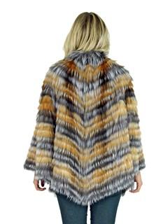 Woman's Silver Fox Fur Cape