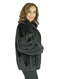 Woman's Black Mink Fur Jacket