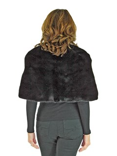 Woman's Black Mink Fur Stole