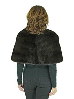 Woman's Mahogany Mink Fur Stole