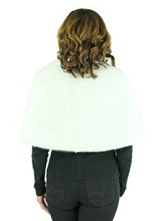 Woman's White Mink Fur Stole