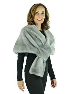 Woman's Sapphire Mink Fur Stole