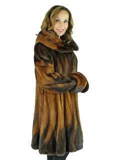 Woman's Whiskey Mink Degrade Fur Stroller