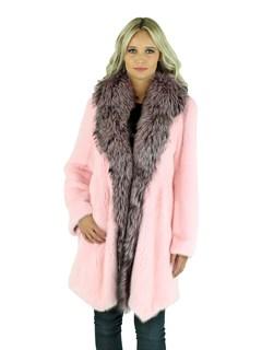 Woman's Pink Mink Fur Stroller