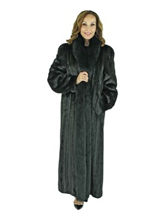Woman's Black Mink Fur Coat
