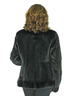 Women's Natural Blackglama Mink Fur Jacket