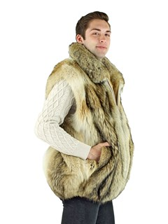 Man's Natural Coyote Vest