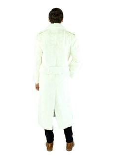 Man's White Mink Section Fur Coat