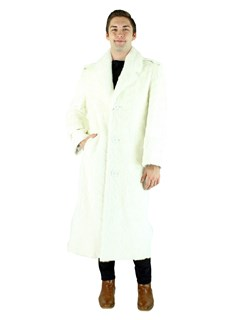 Man's White Mink Section Fur Coat