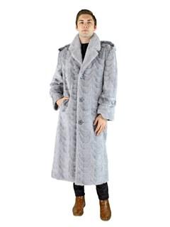 Man's Sapphire Mink Section Fur Coat