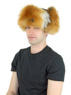 Unisex Natural Red Fox Fur Trooper Hat