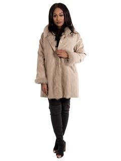 Women's Taupe Silk Nylon Reversible to Matching Fox