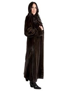Women's Natural Mahogany Mink Fur Coat