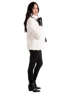Women's White Mink Fur Jacket