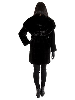 Women's Black Sheared Mink Fur Stroller