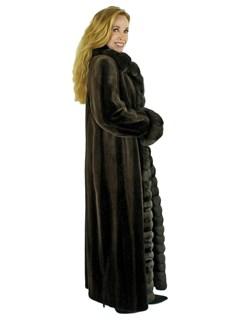 Woman's Brown Degrade Sheared Mink Fur Coat