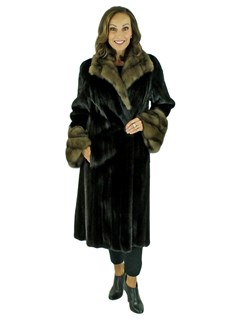 Woman's Blackglama Female Mink Fur 7/8 Coat