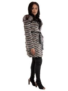Women's Silver Fox Fur Stroller