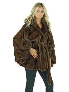 Woman's Scanbrown Mink Fur Cape