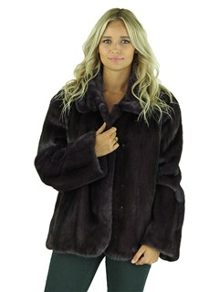 Woman's Eggplant Mink Fur Jacket