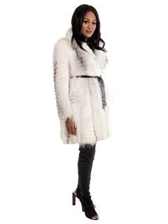 Women's Natural Artic Fox Fur Stroller
