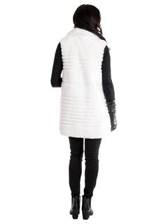 Women's White Rex Rabbit Fur Vest