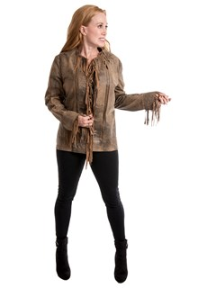 Woman's Walnut Leather Jacket