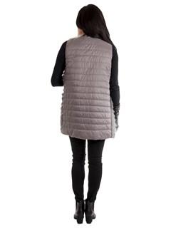 Women's Dyed Finnish Raccoon Fur Vest; Reversible to Down