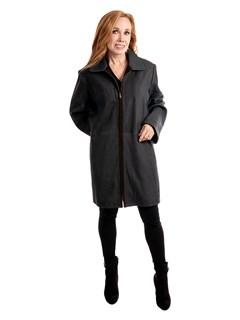 Woman's Navy Lambskin Leather Stroller