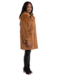 Women's Dyed Whiskey Sheared Mink Fur Stroller