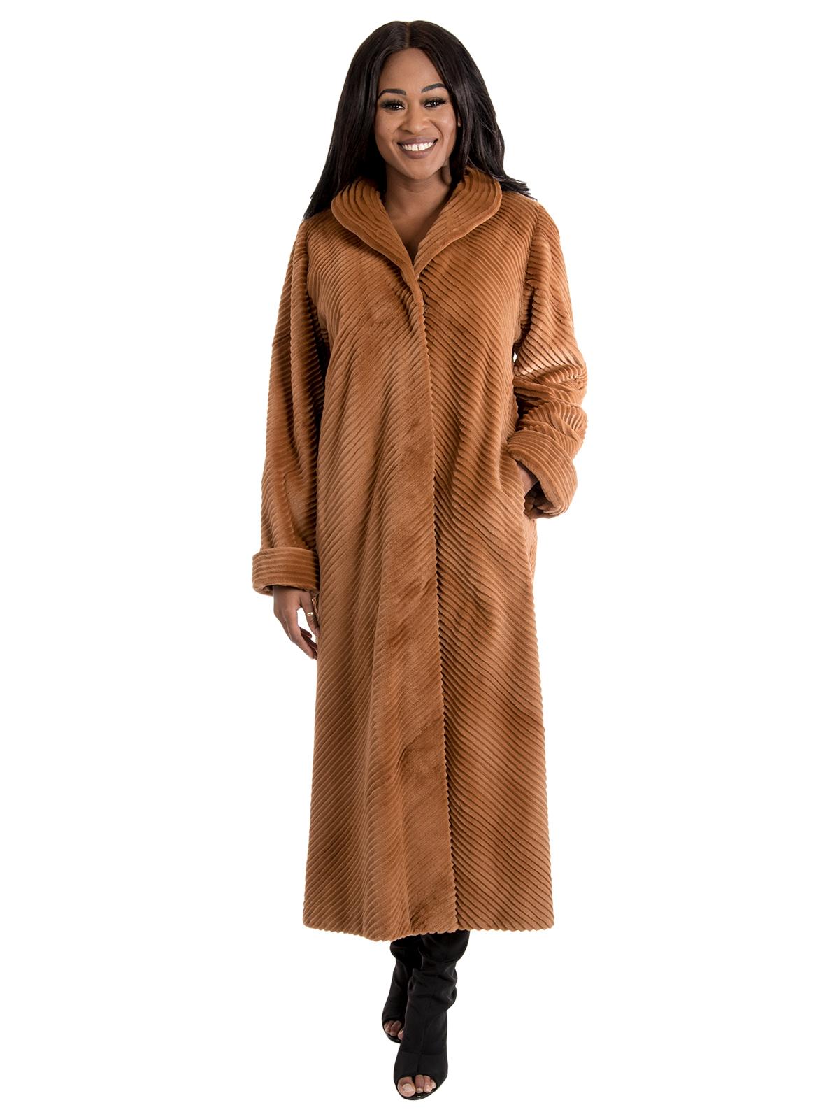 Women's Sheared Mink Fur Coat
