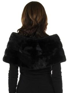 Woman's New Carolyn Rowan Black Emilia Mink Fur Shrug