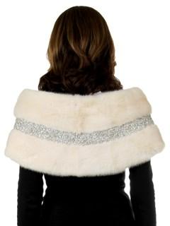 Woman's New Carolyn Rowan White Robie Mink Fur Stole
