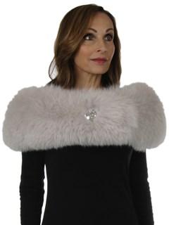 Woman's New Carolyn Rowan Light Mauve Fox Fur Shoulder Stole