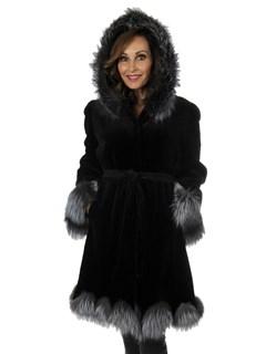Woman's New Black Sheared Mink Fur Stroller