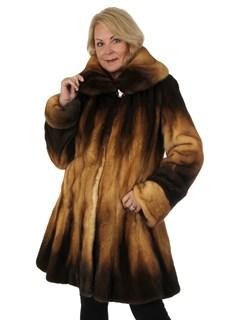 Woman's New Golden Degradé Mink Fur Stroller