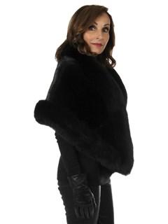 Woman's New Black Mink Fur Stole