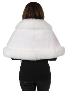 Woman's New White Mink Fur Stole