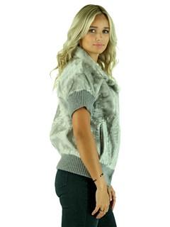 Gorski Woman's Silver Grey Lamb Fur Vest