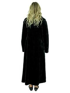 Gorski Woman's Black Sheared Mink Fur Coat