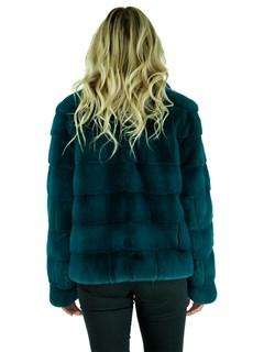 Woman's Teal Mink Fur Jacket