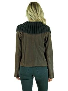 Woman's Dark Chocolate Brown Leather Jacket