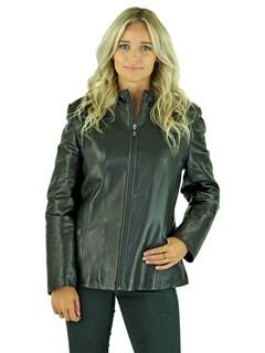 Woman's Black Leather Jacket