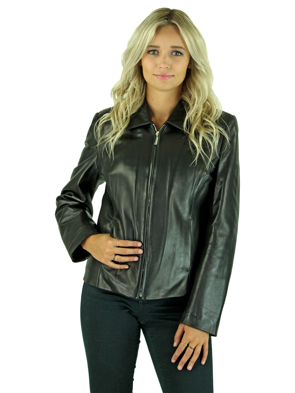 Woman's Black Lamb Leather Jacket