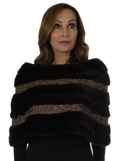 Woman's New Carolyn Rowan Mahogany Robie Mink Fur Stole