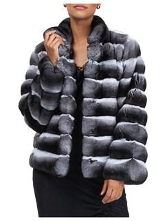 Gorski Woman's Gray Chinchilla Fur Jacket